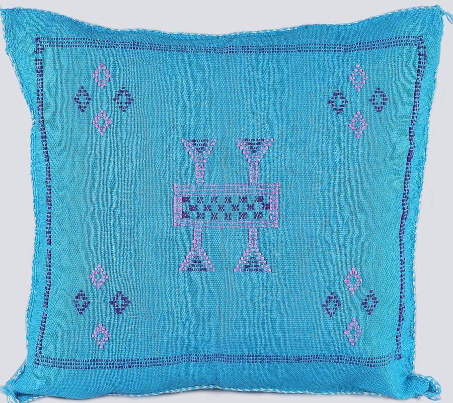 coussin sabra bleu